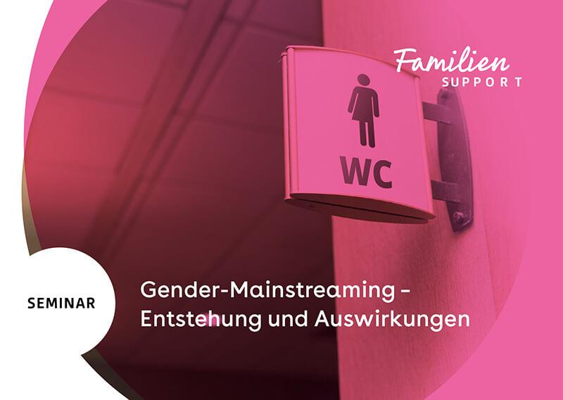 Flyer vom Seminar Gender-Mainstreaming 26.02.2020